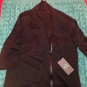 Armani exchange black long jacket S $98 AX